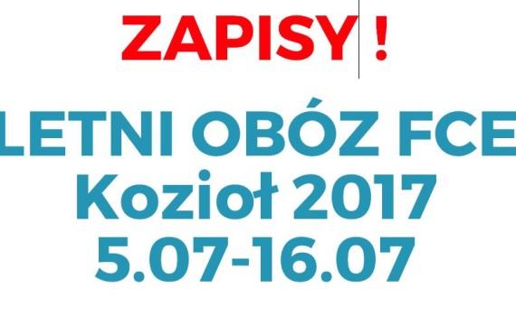 ZAPISY FCE CAMP KAFELEK